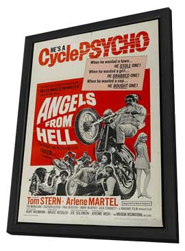 Angels from Hell - 27 x 40 Movie Poster - Style A - in Deluxe Wood Frame