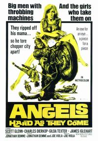 Angels, Hard As They Come - 43 x 62 Movie Poster - Bus Shelter Style A