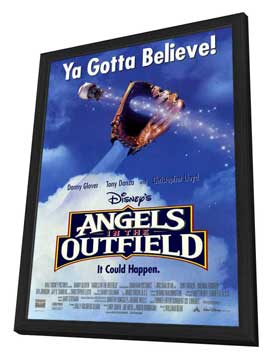 Angels in the Outfield - 27 x 40 Movie Poster - Style A - in Deluxe Wood Frame