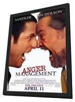 Anger Management - 11 x 17 Movie Poster - Style A - in Deluxe Wood Frame