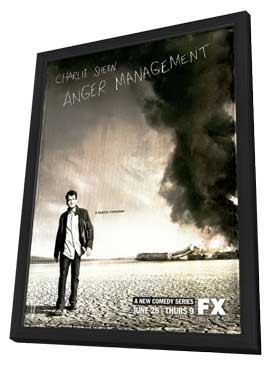 Anger Management (TV) - 11 x 17 TV Poster - Style A - in Deluxe Wood Frame