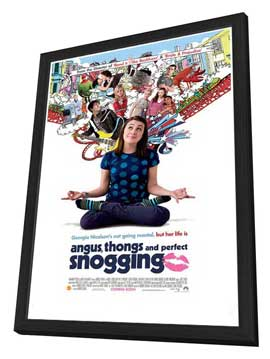 Angus, Thongs and Perfect Snogging - 11 x 17 Movie Poster - UK Style A - in Deluxe Wood Frame