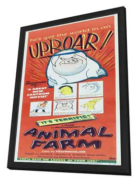 Animal Farm - 14 x 36 Movie Poster - Insert Style A - in Deluxe Wood Frame