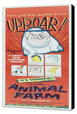 Animal Farm - 14 x 36 Movie Poster - Insert Style A - Museum Wrapped Canvas