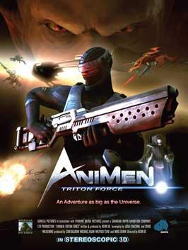 AniMen: Triton Force - 11 x 17 Movie Poster - Style A