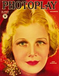 Ann Harding - 11 x 17 Photoplay Magazine Cover 1930's Style B