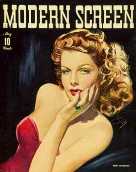 Ann Sheridan - 11 x 17 Modern Screen Magazine Cover 1930's Style B