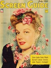 Ann Sheridan - 11 x 17 Screen Guide Magazine Cover 1940's