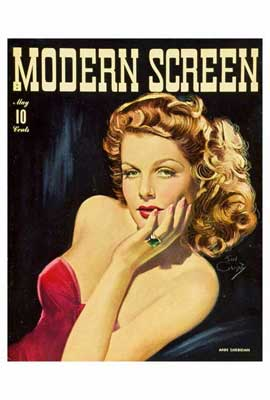 Ann Sheridan - 27 x 40 Movie Poster - Modern Screen Magazine Cover 1930's Style B