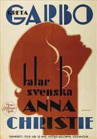 Anna Christie - 43 x 62 Movie Poster - Swedish Style A