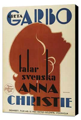 Anna Christie - 27 x 40 Movie Poster - Swedish Style A - Museum Wrapped Canvas