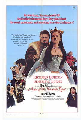 Anne of the Thousand Days - 27 x 40 Movie Poster - Style A