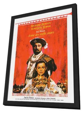 Anne of the Thousand Days - 11 x 17 Movie Poster - French Style A - in Deluxe Wood Frame