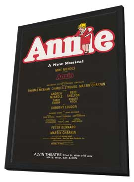 Annie (Broadway) - 14 x 22 Poster - Style A - in Deluxe Wood Frame