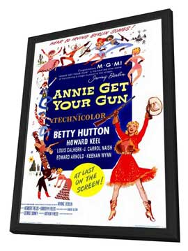 Annie Get Your Gun - 11 x 17 Movie Poster - Style A - in Deluxe Wood Frame