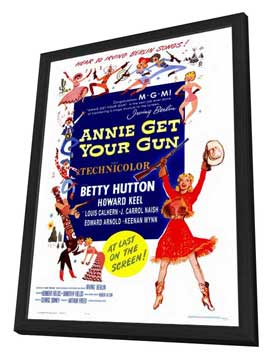 Annie Get Your Gun - 27 x 40 Movie Poster - Style A - in Deluxe Wood Frame