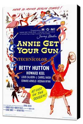 Annie Get Your Gun - 11 x 17 Movie Poster - Style A - Museum Wrapped Canvas
