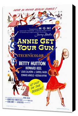Annie Get Your Gun - 27 x 40 Movie Poster - Style A - Museum Wrapped Canvas