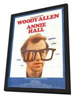 Annie Hall - 11 x 17 Movie Poster - French Style A - in Deluxe Wood Frame