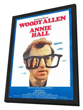 Annie Hall - 27 x 40 Movie Poster - French Style A - in Deluxe Wood Frame