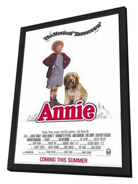 Annie - 11 x 17 Movie Poster - Style B - in Deluxe Wood Frame