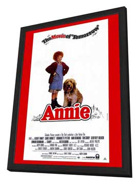 Annie - 11 x 17 Movie Poster - Style D - in Deluxe Wood Frame
