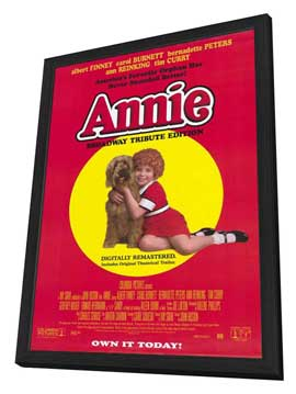 Annie - 27 x 40 Movie Poster - Style A - in Deluxe Wood Frame