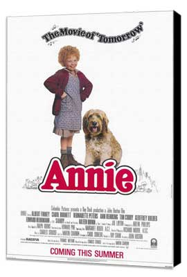Annie - 11 x 17 Movie Poster - Style B - Museum Wrapped Canvas
