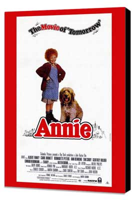 Annie - 11 x 17 Movie Poster - Style D - Museum Wrapped Canvas
