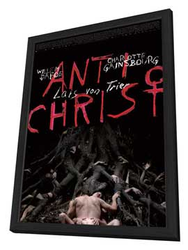 Antichrist - 27 x 40 Movie Poster - Danish Style A - in Deluxe Wood Frame