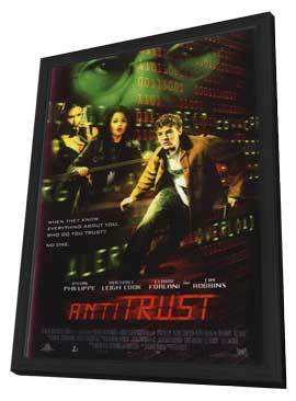 Antitrust - 11 x 17 Movie Poster - Style C - in Deluxe Wood Frame