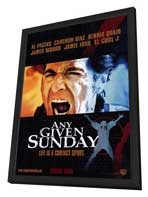 Any Given Sunday - 11 x 17 Movie Poster - Style B - in Deluxe Wood Frame