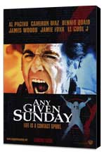 Any Given Sunday - 27 x 40 Movie Poster - Style B - Museum Wrapped Canvas
