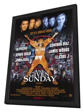 Any Given Sunday - 11 x 17 Movie Poster - Style A - in Deluxe Wood Frame