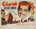 Any Number Can Play - 22 x 28 Movie Poster - Half Sheet Style A