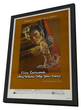 Any Which Way You Can - 11 x 17 Movie Poster - Style A - in Deluxe Wood Frame