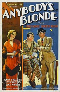 Anybody's Blonde - 27 x 40 Movie Poster - Style A