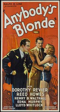 Anybody's Blonde - 20 x 40 Movie Poster - Style A