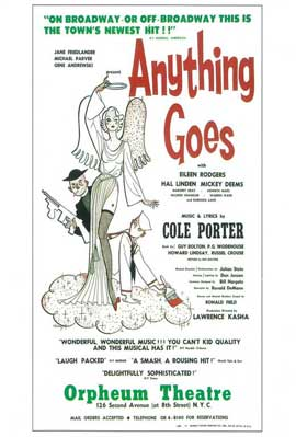 Anything Goes (Broadway) - 14 x 22 Poster - Style A