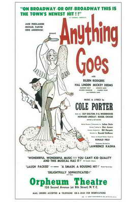 Anything Goes (Broadway) - 11 x 17 Poster - Style A