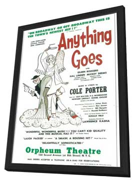 Anything Goes (Broadway) - 11 x 17 Poster - Style A - in Deluxe Wood Frame