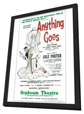 Anything Goes (Broadway) - 14 x 22 Poster - Style A - in Deluxe Wood Frame