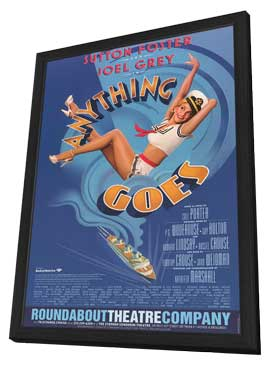 Anything Goes (Broadway) - 14 x 22 Poster - Heavy Stock - in Deluxe Wood Frame