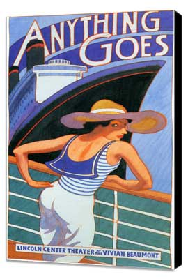Anything Goes (stage play) - 11 x 17 Movie Poster - Style A - Museum Wrapped Canvas