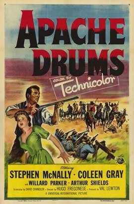 Apache Drums - 11 x 17 Movie Poster - Style A
