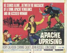 Apache Uprising - 22 x 28 Movie Poster - Half Sheet Style A