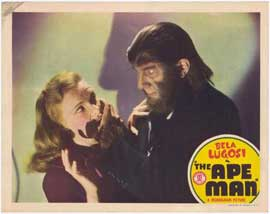 The Ape Man - 11 x 14 Movie Poster - Style D