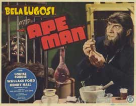 The Ape Man - 11 x 14 Movie Poster - Style F
