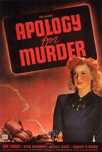 Apology for Murder - 27 x 40 Movie Poster - Style A