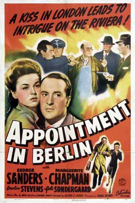 Appointment in Berlin - 27 x 40 Movie Poster - Style A
